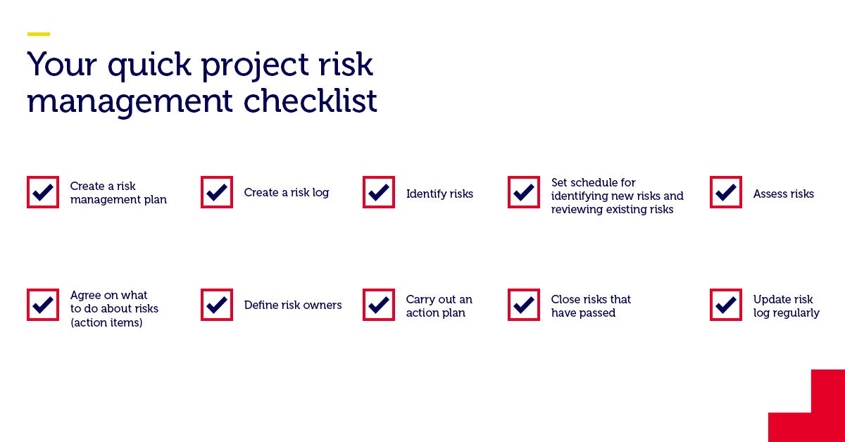 Your quick project risk management checklist