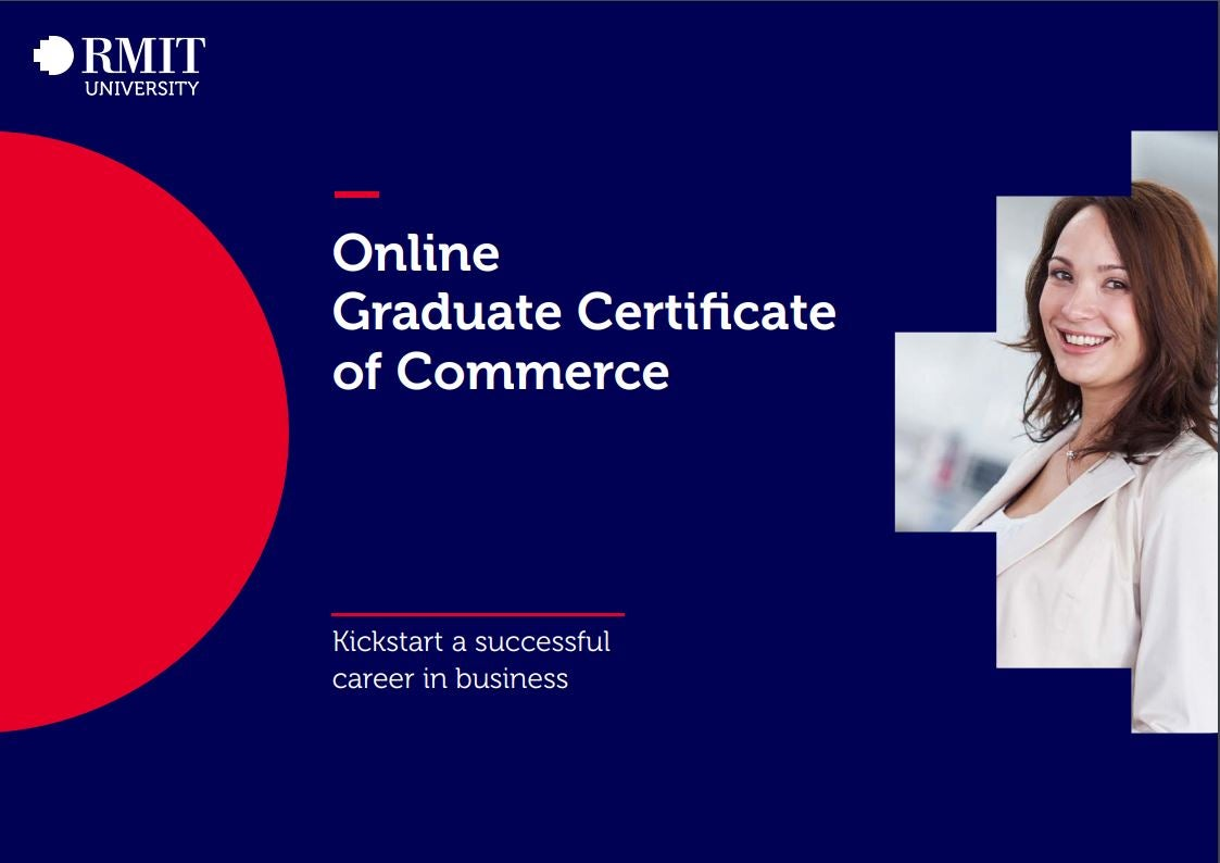 Graduate Certificate of Commerce online brochure