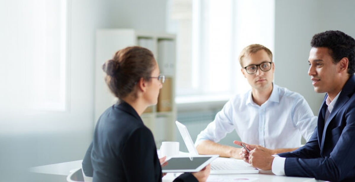 A job interview attended by an HR manager